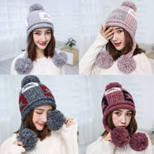 af95dd44c78 Fashion Warm Winter Women Beret Braided Baggy Knit Crochet Beanie Hat Ski  Hats Knitted Ladies Winter