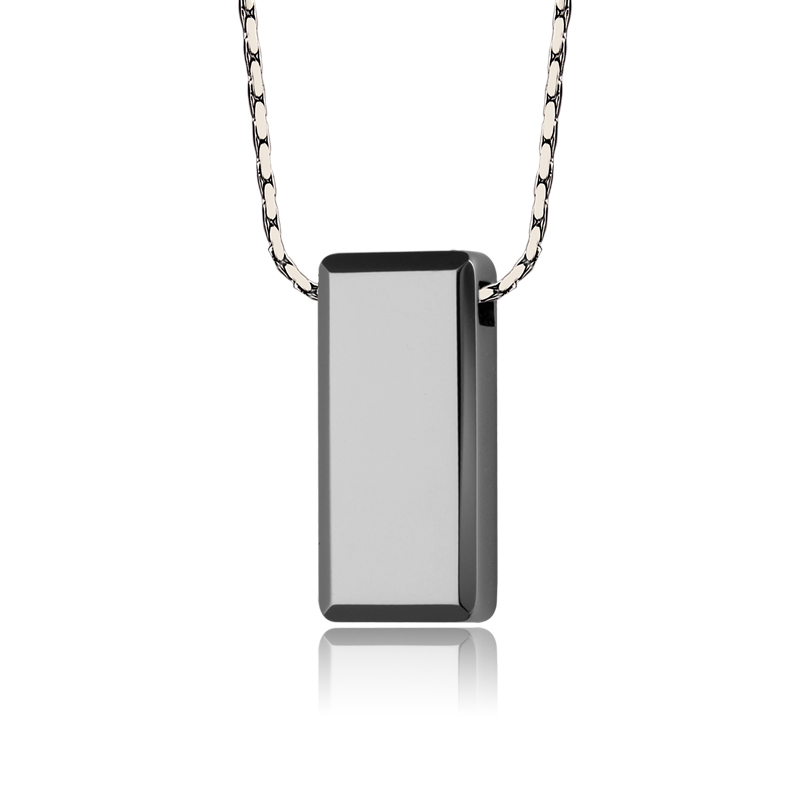 Image 2 - Hot Selling Casual/Sporty High Polished Tungsten Pendants Rectangle Shape for Man Woman Can Laser Engraving Picture/ Symbols-in Pendants from Jewelry & Accessories