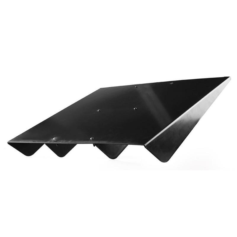 VODOOL Universal Rear Bumper Lip Diffuser 4 Fin Black ABS Car Diffuser Fin Shark Style For