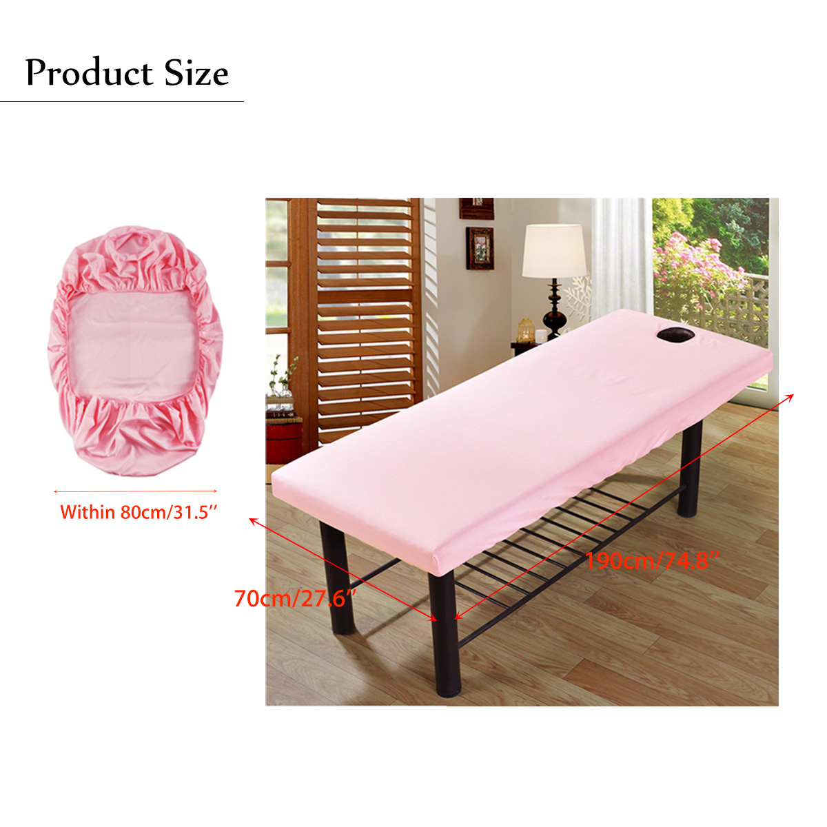 Soft Polyester Massage Bed Cover Beauty Salon Massage Sheet Body SPA Treatment Relaxation Bedsheet With Face Breath Hole 6