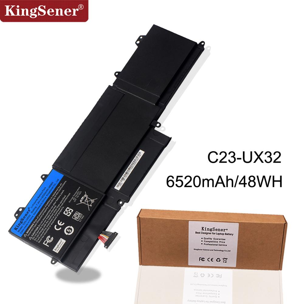 KingSener New C23-UX32 Laptop Battery For ASUS VivoBook U38N U38N-C4004H ZenBook UX32 UX32A UX32VD UX32LA 7.4V 6520mAh