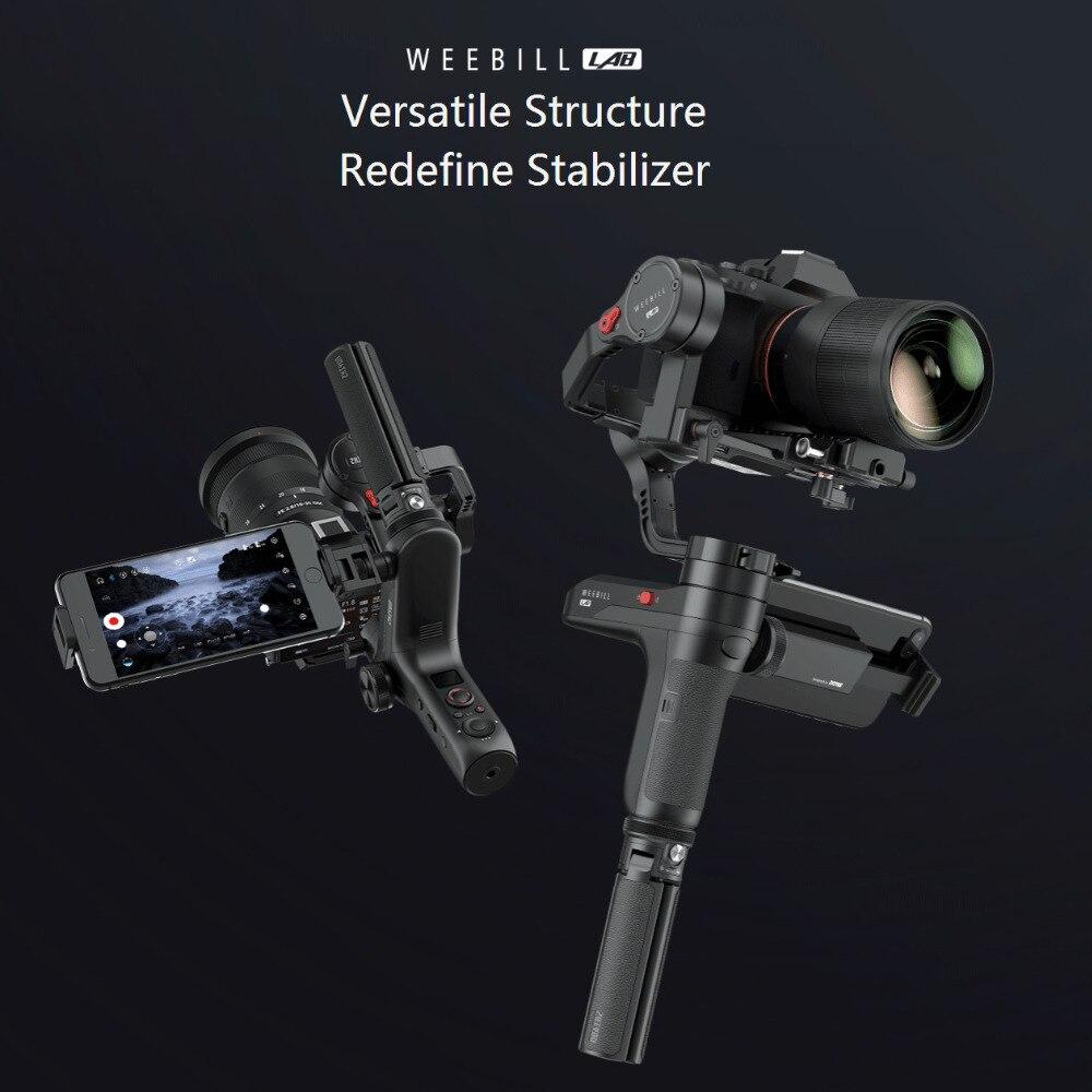 ZHIYUN Weebill laboratorio 3 ejes cardán mano Mirrorless estabilizador de cámara cardán de mano para Sony A7R3 A7S2 A7M3 A6300 A6500 GH5