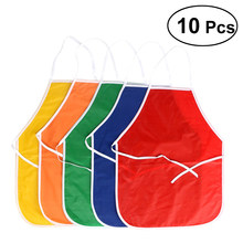 10PCS Artists Fabric Aprons for Children Crafts Art Painting Activity(China)