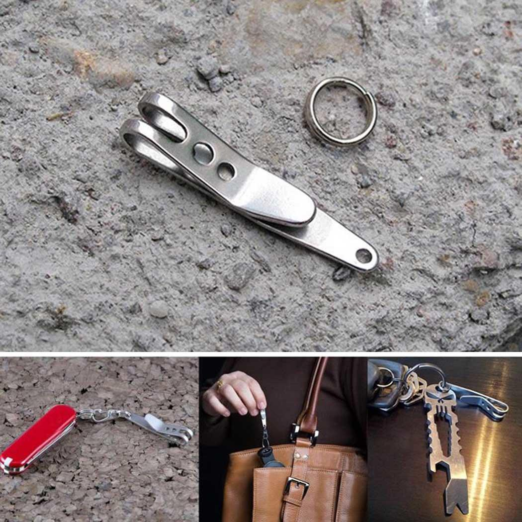 Ring Metal Carabiner Tool Buckle Clip EDC with Key Outdoor Suspension