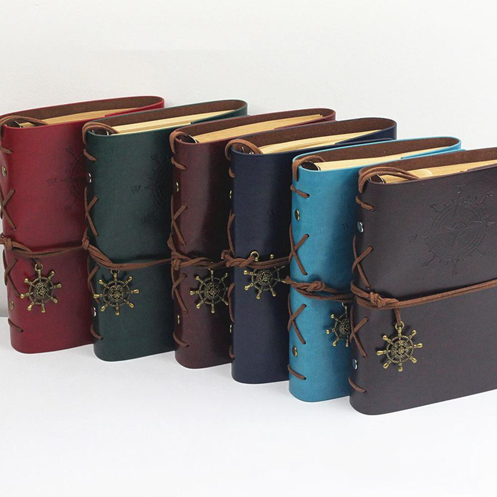 None Notebook Diary Notepad Vintage Pirate Anchors PU Leather Note Book For Traveler Journal D15