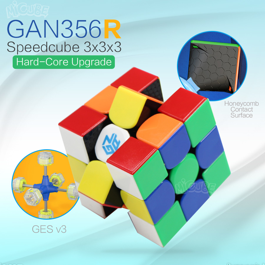 Gan356R Magic Speed Cube 3x3x3 Professional Palyer Stickerless Gan356 R 3x3 Cubo Magico  GES V2 Gan 356R Puzzles For Adults