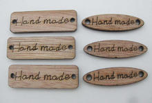 WBNAVV Lasered hand made wood buttons labels for garment ornament 150pcs DIY handmade