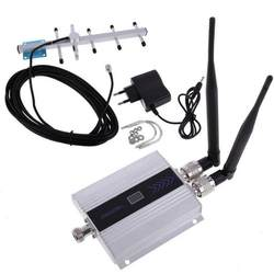 ЖК-дисплей GSM 900 МГц сотовый телефон сигнал ретрансляционный усилитель + Яги антенна ЕС розетка телефон сигнал ретрансляционный усилитель