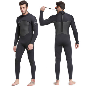 Sbart One-Piece Neoprene 3mm Diving Suit Winter Long Sleeve Men Wetsuit Prevent Jellyfish Snorkeling Suit Spearfishing Keep Warm