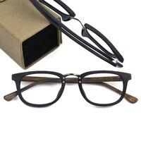 Handmade Eyewear Frames Optical. Glass Women Men Fashion Wood Grain Acetate Eyeglasses Square Full rim Glasses Frames Spectacles
