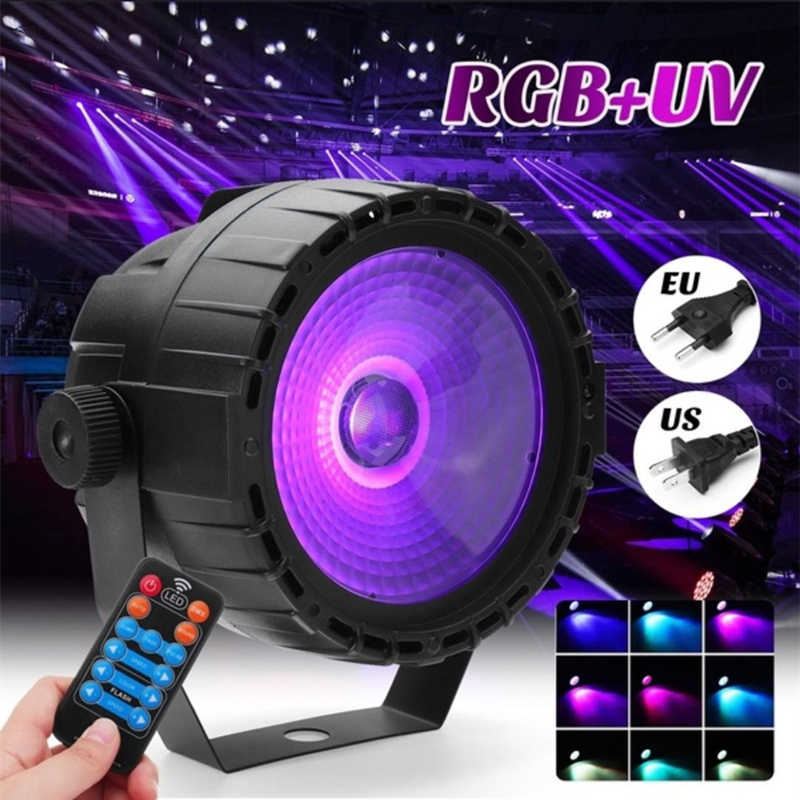 30W RGB UV LED COB Lampu Panggung Remote Kontrol Nirkabel LED Wash Wall Lighting Panggung Lampu Lampu PAR DJ DMX Lampu untuk Pesta Disko