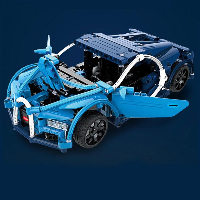 419 pièces télécommande Super voiture de course Bugatties RC Voiture blocs de construction Modèle Kit de Construction Briques Compatible Legoing lepins Jouets