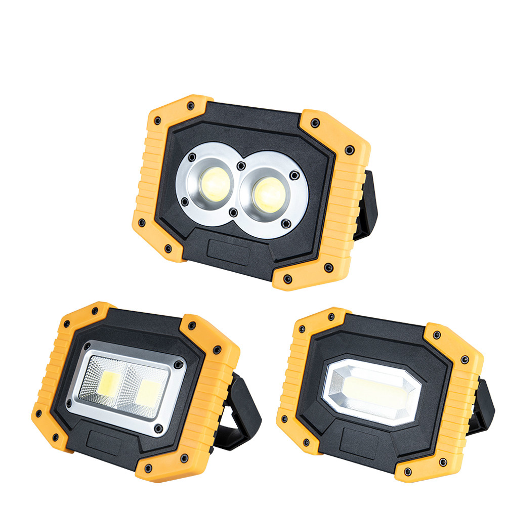 Portable LED Floodlight 30W 400 Lumen 3 Modes 5V USB Rechargeable Reflector Spotlight Outdoor Emergency Spotlight 18650 BatteryPortable LED Floodlight 30W 400 Lumen 3 Modes 5V USB Rechargeable Reflector Spotlight Outdoor Emergency Spotlight 18650 Battery