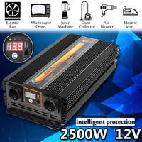 USB Car Inverter Max 5000W DC 12V 220V Modified Sine Wave Digital Display Converter Power Supplies Sine Wave Converter Adapter