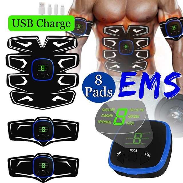 EMS Recarregável Abs Músculo Abdominal Cinto de Tonificação Abdominal Braço/Perna Instrutor Engrenagem Da Aptidão Equipamento de Treinamento Muscular
