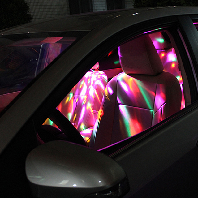 RGB Crystal Magic Ball Effect Led Stage Light USB Connect DJ Club Disco KTV Car 5
