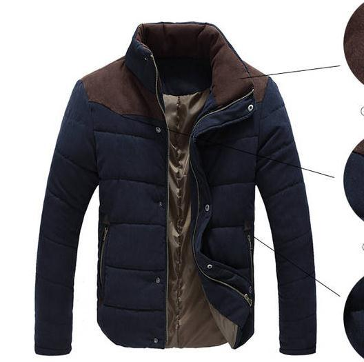 Best sell xxxxl 2019 Winter Jacket Men Warm Causal Parkas Cotton Coat Male Outwear Coat peach velvet Size M-4XL
