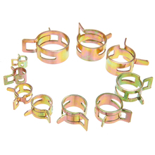 цены 100Pcs/sot 6-22mm Hose Spring Clip Fuel Line Hose Water Pipe Air Tube Clamp Fastener Fuel Line Hose Clamps