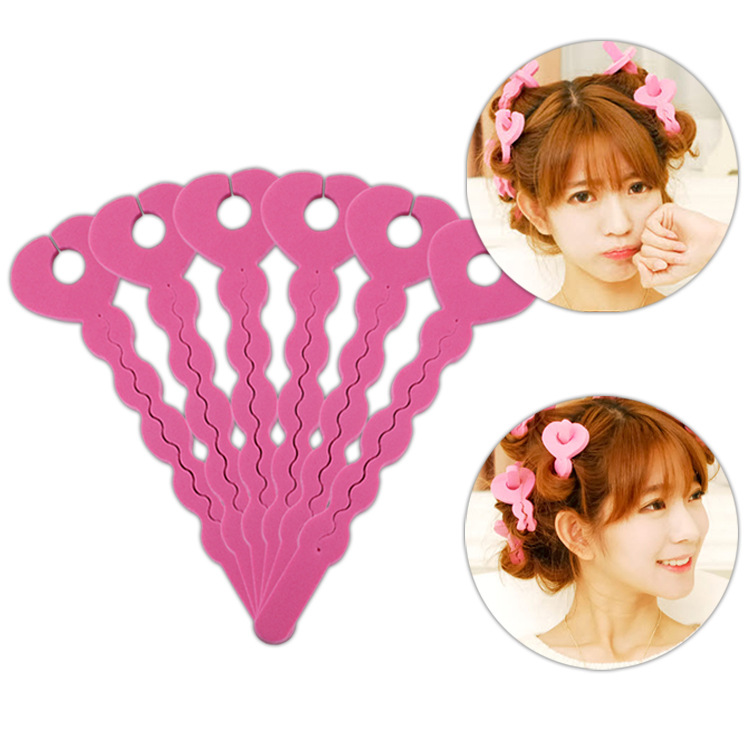 6pcs Salon Soft Hair Curler Foam Rollers Hair Styling Tools Universal Curling Iron Not To Hurt The Hair Spring