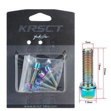 KRSEC титана-покрытием Радуга Горная дорога велосипед для велосипедного руля винт М5*18 мм 304 нержавеющая сталь винт М6*18 мм