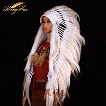 Индийский перьевой костюм индийский главный перо войны капот Хэллоуин костюм