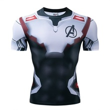 Мстители эндгейм футболка Квантовая царство компрессионная с коротким рукавом для мужчин тренажерный зал Спорт Фитнес окрашенные футболки спортивная одежда для мужчин