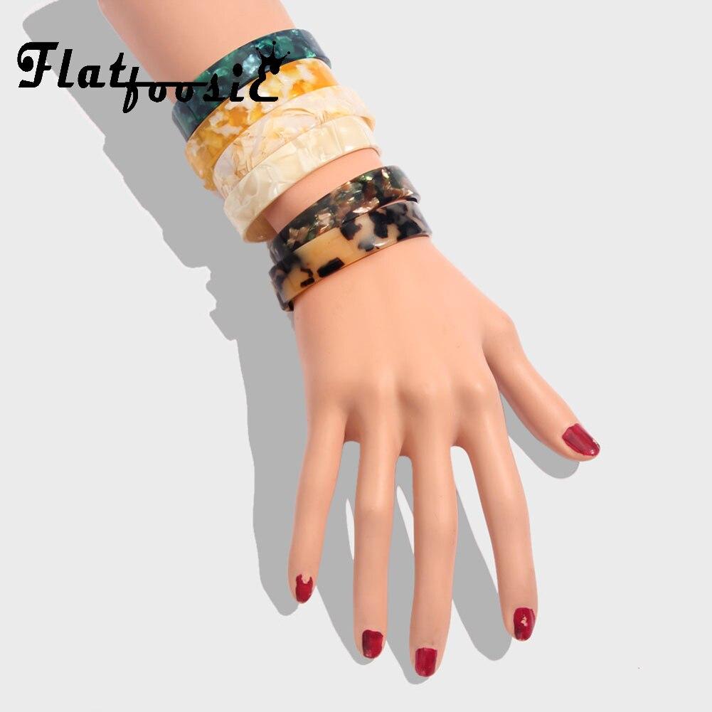 Flatfoosie Za Luipaard Vintage Bangle Armbanden Voor Vrouwen Open Manchet Mode Acryl Elegante Brede Armband 2019 Kerst Sieraden