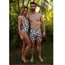 Сексуальный летний женский и мужской комплект бикини, пляжный купальный костюм с шортами, семейный купальный костюм, купальный костюм для мамы и папы, комплект бикини