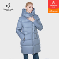 2018 jacket women camperas mujer abrigo invierno coat women park plus size European design Mink hair hat thick Windproof
