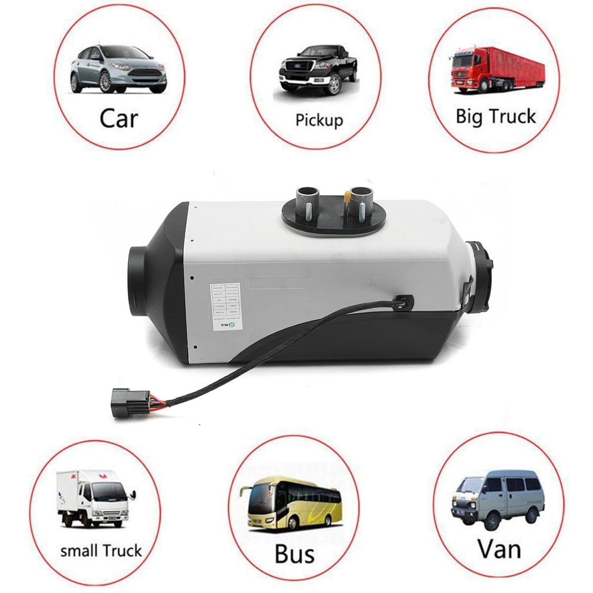 12V 5000W LCD moniteur Air diesels réchauffeur de carburant unique trou 5KW pour bateaux Bus voiture chauffage avec télécommande et silencieux gratuitement - 5