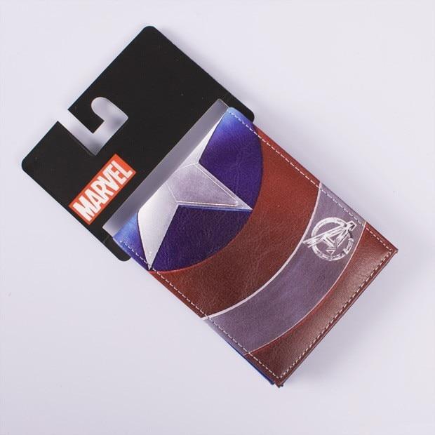 2018 Dc Marvel Brieftasche Kapitän Amerika Karte Taschen Berühmte Amin Cartoon Geldbörse Leder Männlichen Casual Brieftaschen Ideales Geschenk FüR Alle Gelegenheiten