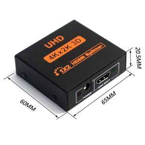 Image 4 - NEUE 1x2 HDMI Splitter v1.4b Ansicht 4K 3D 1080p Ein Eingang zu Zwei Ausgang Top UNS stecker