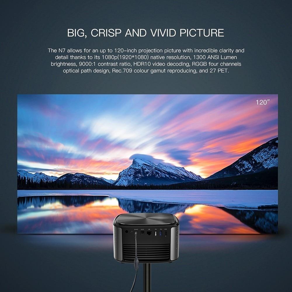 Image 2 - JMGO N7 Full HD Projector, 1300 ANSI Lumens, 1920*1080P. Smart Beamer Home Cinema. Support 4K, 3D Projector