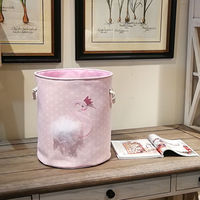 D35XH40cm Dirty Laundry Basket 2019 New Pink swan Organizer Basket Drawstring Storage Baskets for Toys Books