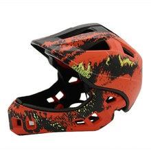 87ff2f554 Capacete da bicicleta Crianças Destacáveis Full Face Helmet Capacete de  Ciclismo Downhill Crianças De Segurança Equitação