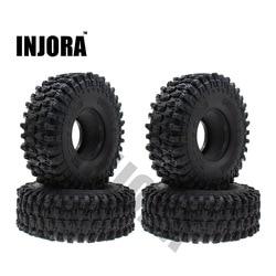 INJORA 4PCS 120MM 1.9 Tires for 1/10 RC Crawler SCX10 TRX4