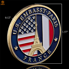 USA Department Of State Embassy Paris France Tower Souvenir Challenge Gold Collectible Copy Coins