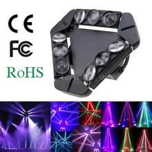 Disco KTV 90 W 9LED RGBW Voller Farbe DMX512 Sound Control 16/48 Kanal Mini Triangle Spinne Lampe Strahl Bühne Licht für Club Party