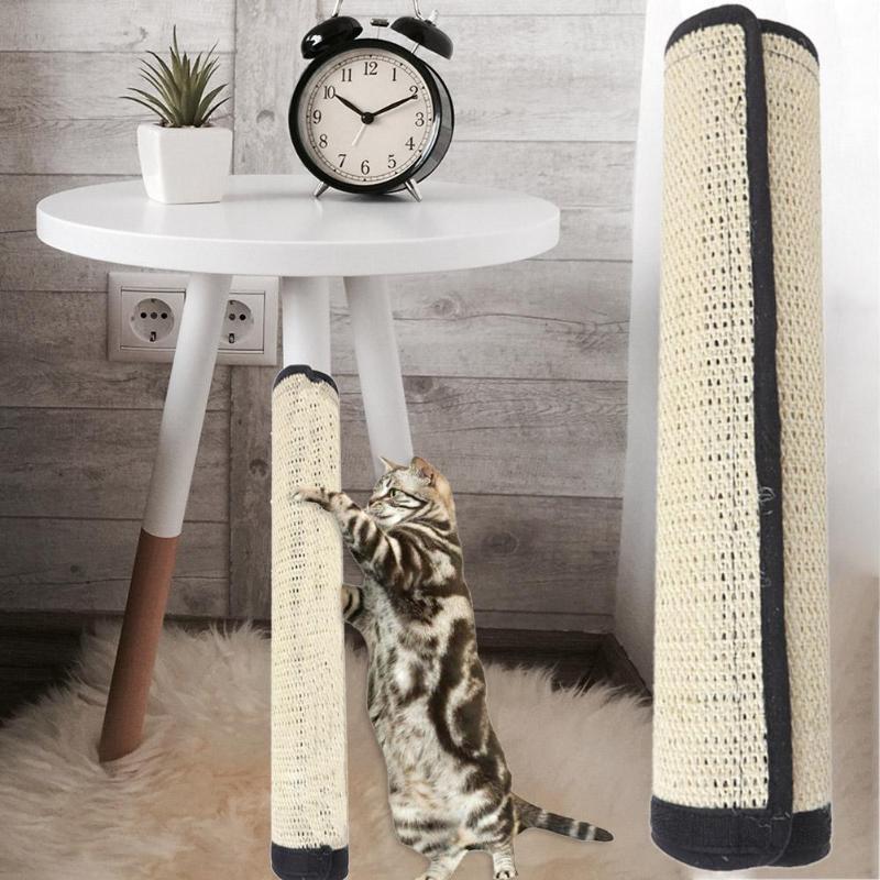 Cat Kitten Scratch Mat Board Furniture Protect Pad Sisal Scratcher Mat Claws Care Cat Toy Sofa Scratching Post Protector