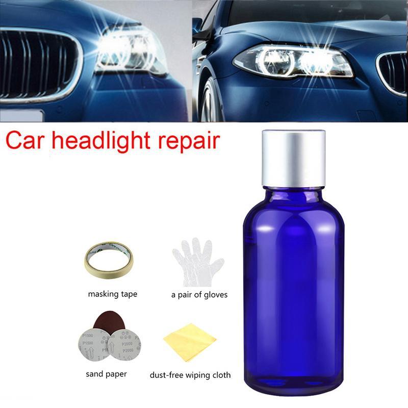 Car Headlight Repair Fluid Shade Scratch Polishing Tools