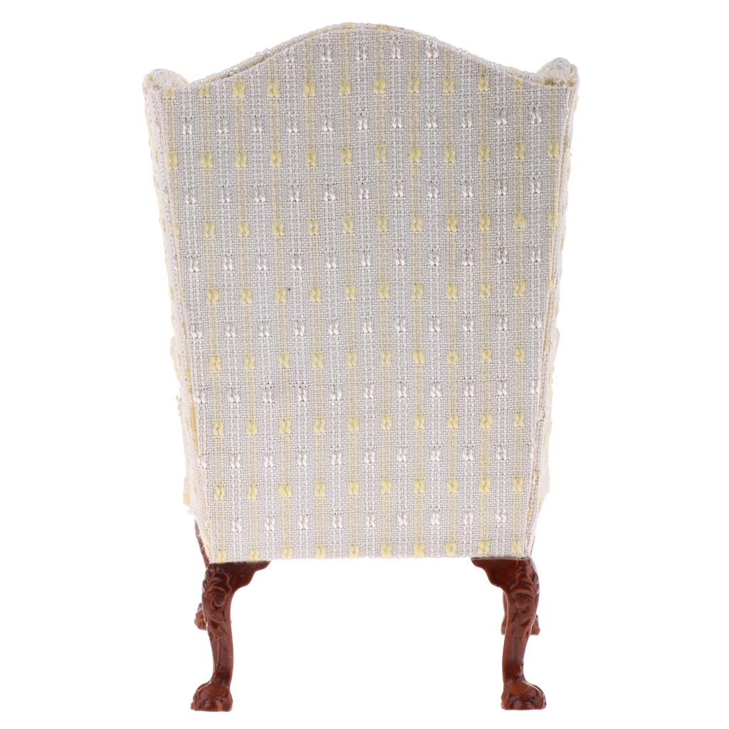 1/6 Scale Dollhouse Furniture Single Sofa Wing Chair Miniature Doll House Accessories Toys Birthday Gift for Children Kids