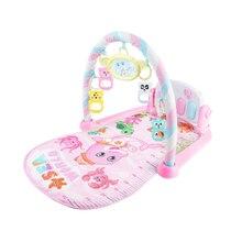 Детская педаль пианино Бодибилдинг инструмент-для новорожденного ребенка музыкальная игра одеяло игрушка звенящий колокольчик-детский фитнес игровой коврик