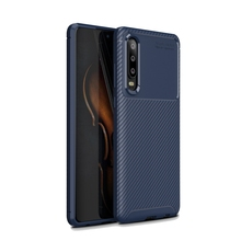 CASEWIN For Huawei P30 Pro Case Soft TPU Silicone Texture Carbon Fiber Anti-slip Armor Cover Shockproof