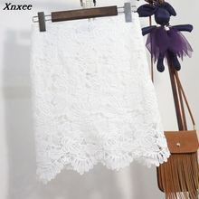 Fashion Midi Skirts Womens Lace Black Skirts Basic Vintage Long High Waist white gray skirt ladies plus size Jupe Femme Faldas стоимость