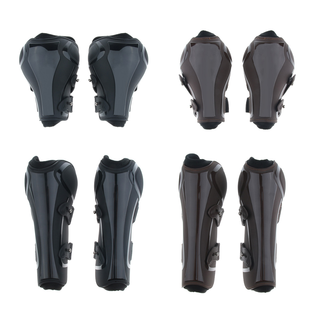 2 Pairs Brushing Boot Horse Stable Neoprene Travel Boots Leg Protection Wrap