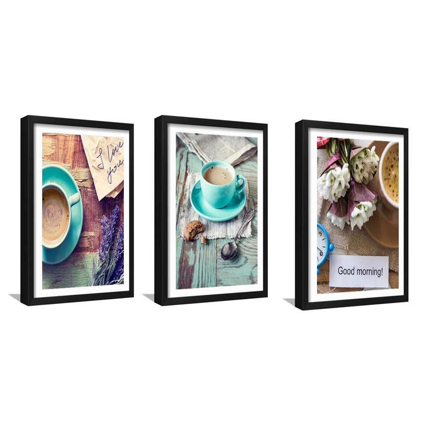Panel printing of coffee posters, home decoration paintings, cloth - Home Decor