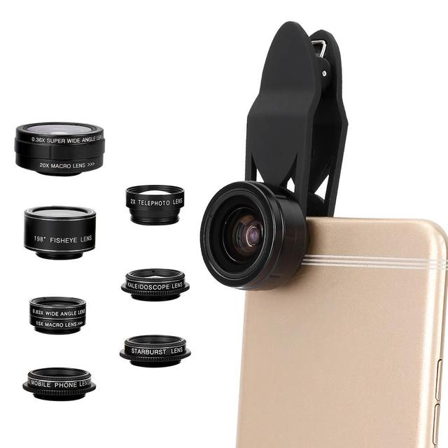 9 in 1 Fisheye Wide Angle Macro Lens Telescope Telephoto Lenses CPL SET for Mobile Phone accessory