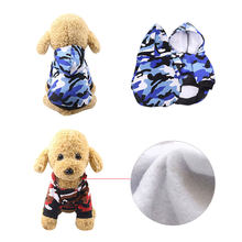 1pc Autumn Winter Pet Puppy Hoodies Dog Clothing Camouflage Hoodied Sweatshirts Dog Cotton Soft Clothes Drop Shopping(China)
