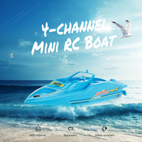 2019 New Mini RC Boat 3392 4 Channel Remote Control Boat With Remote Control Kids Toys Out Door Play RC Boats Boys Water Toys RC Boats     -