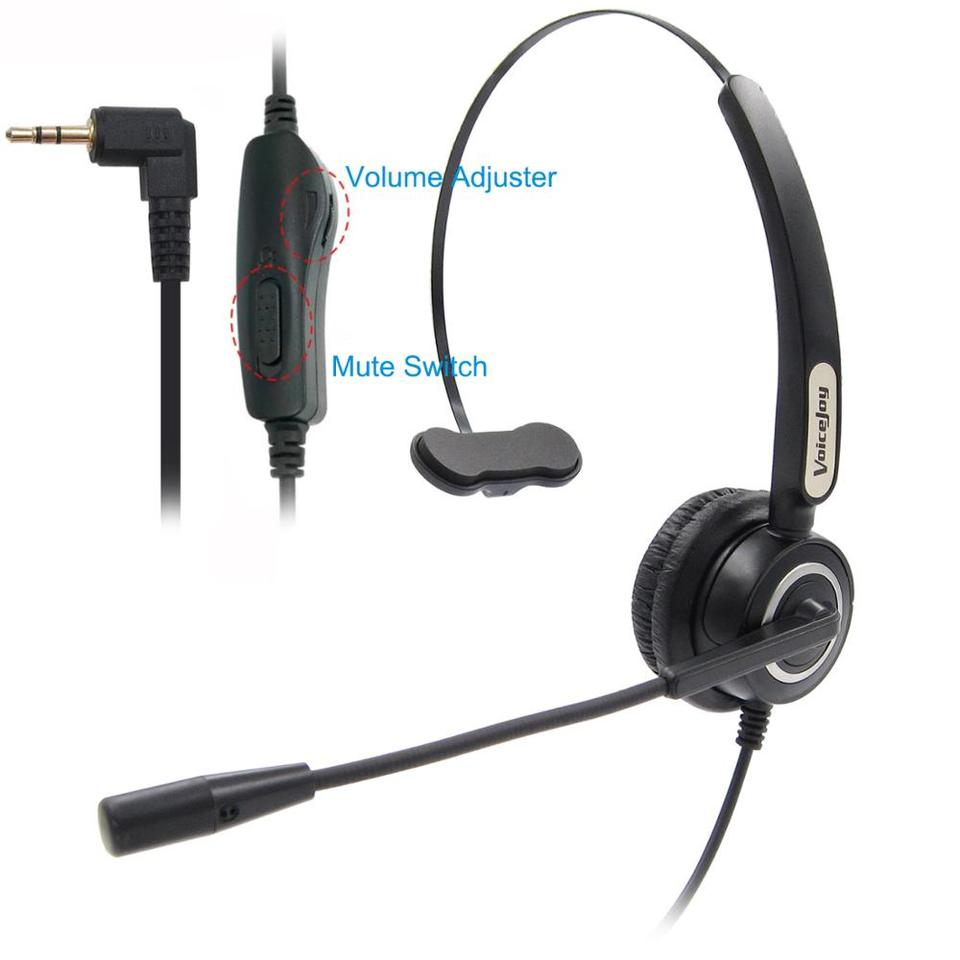 2 5mm Jack Headset Volune And Mute For Panasonic Cordless Phones And Polycom Grandstream Att Linksys Spa Zultys Gigaset Phones Phone Earphones Headphones Aliexpress